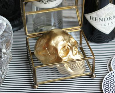 Gold Skull in Curio Box