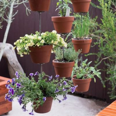 terra cotta pot vertical garden