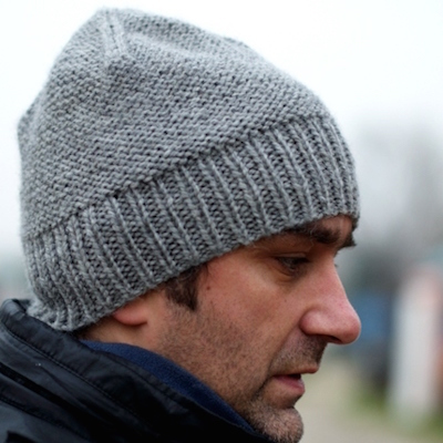 mans knitted cap