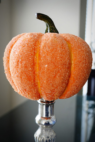 frosted pumpkin halloween decoration
