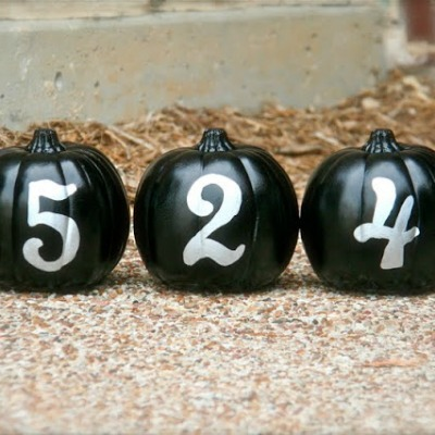 painted pumpkins - glow in the dark address