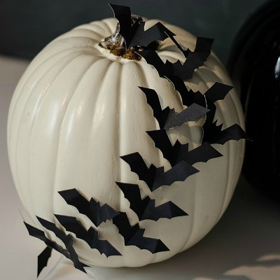 embellished halloween bat pumpkin