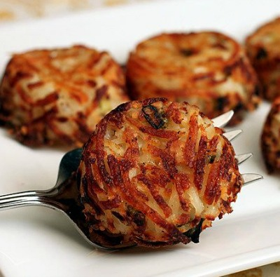 Hash browns made with parmesan cheese