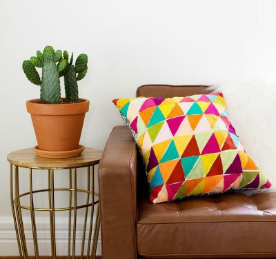 Felt Project Geometric Pillow