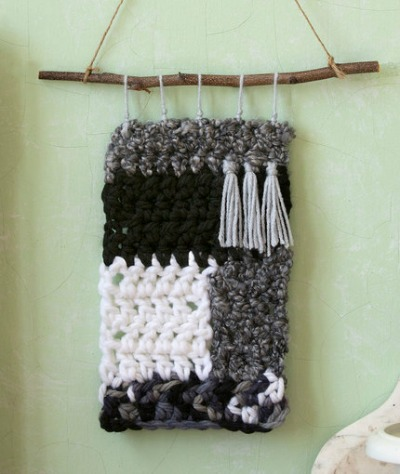 Moonlit Crochet Wall Hanging
