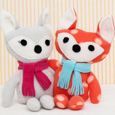 DIY fox softies
