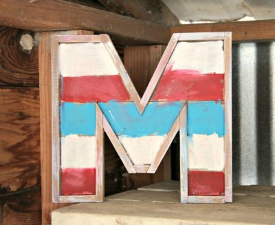 Chalky Finish Barn Wood Monogram