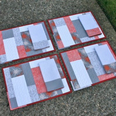Easy block placemats