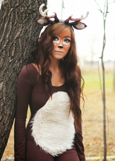 Last-Minute Deer Costume