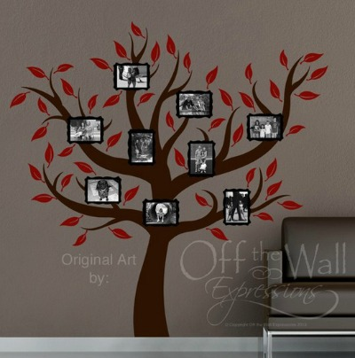 Photo Frame Family Tree Wall Decal
