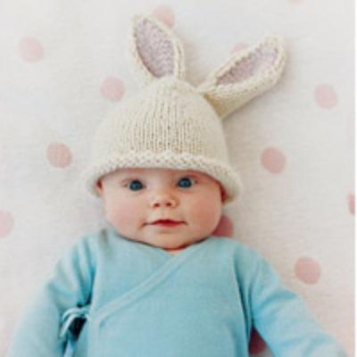 Baby bunny beanie pattern