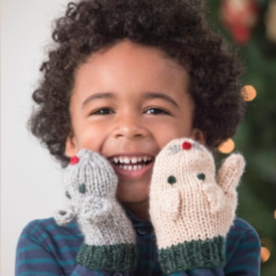Cat and mouse mittens for children
