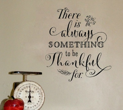 Thankful Quote Wall Decal