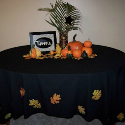 Artificial fall leaves table cloth
