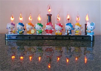 Hello Kitty Menorah