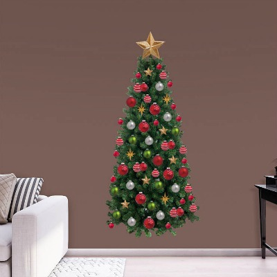 Realistic-Looking Christmas Tree Wall Decal