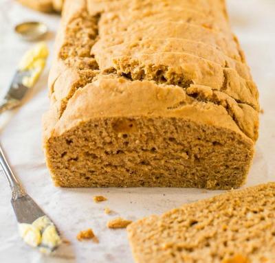 Vegan Sweet Potato Maple Beer Bread