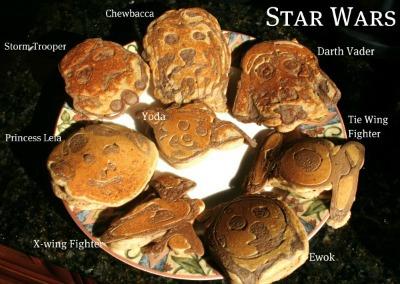 Star Wars Character Pancakes