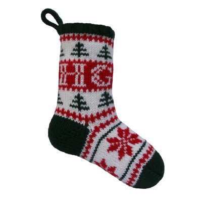 Personalized knitted Christmas stocking pattern