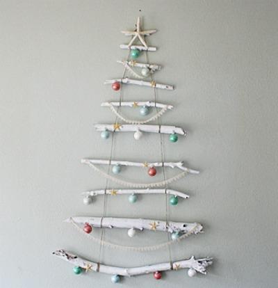 Birch branch Christmas tree