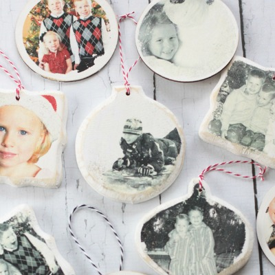 Decorate your tree with your favorite family photos