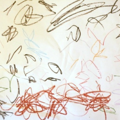 drawing to music with children