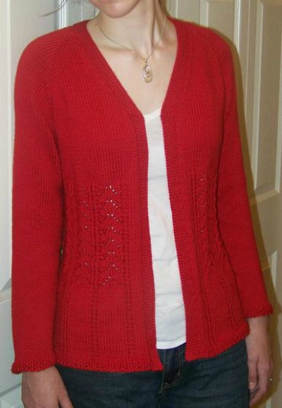 Plus Size Top Down Cardigan