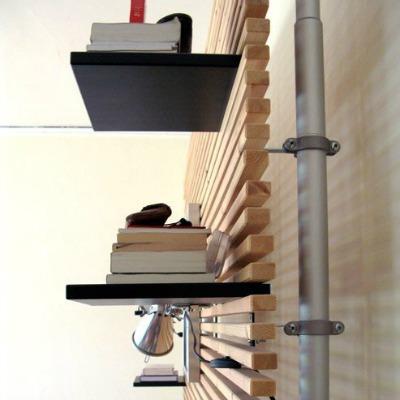 DIY headboard floating shelves