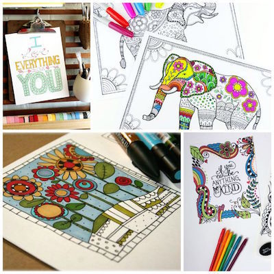 download free adult coloring pages