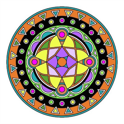 design your own mandala to color, colouring pages