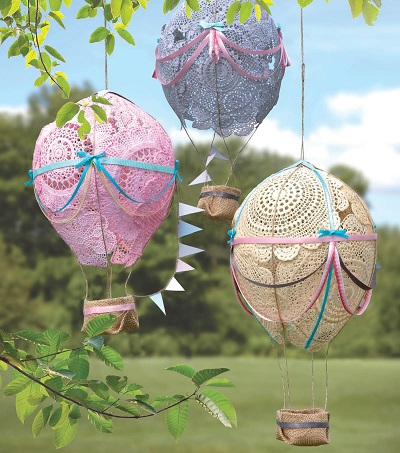 Lace Hot Air Balloons