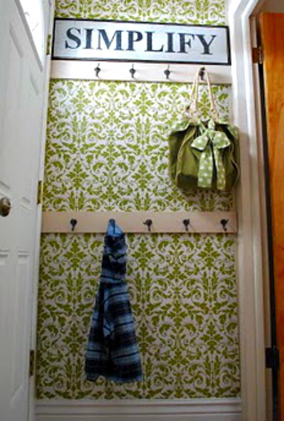 Entryway Wall with Wall Hooks