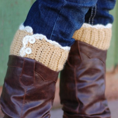 Lacy crochet boot toppers free pattern