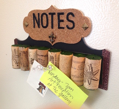wine cork note board