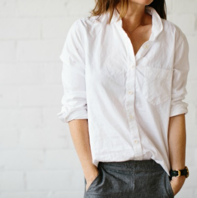 Casual button down shirt outfit