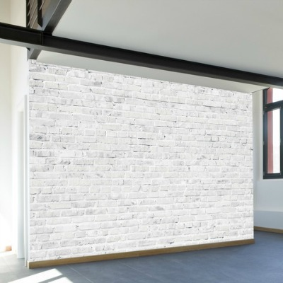 White-Washed Brick Wall