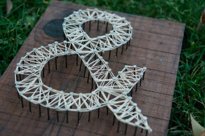 Ampersand String Art
