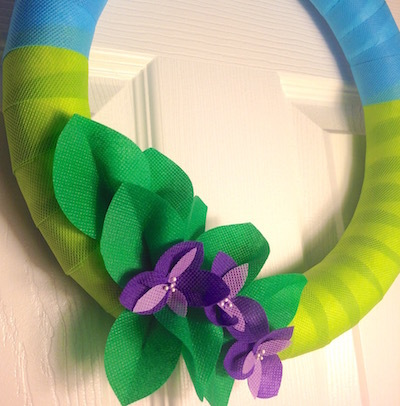oly fun fabric spring wreath