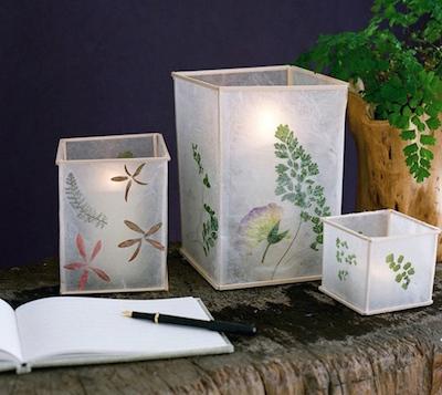 wax paper lanterns