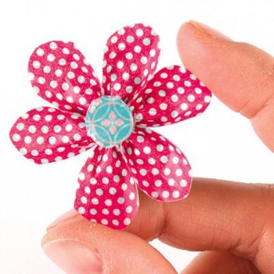 washi tape flower