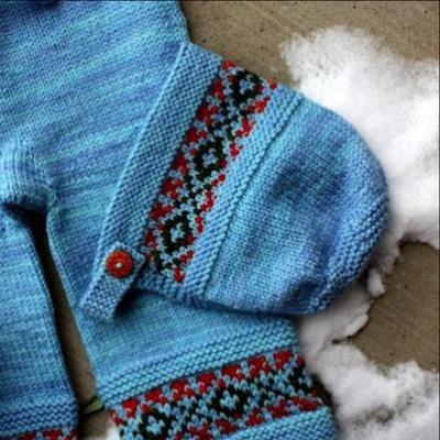 Scandinavian style vintage bonnet pattern