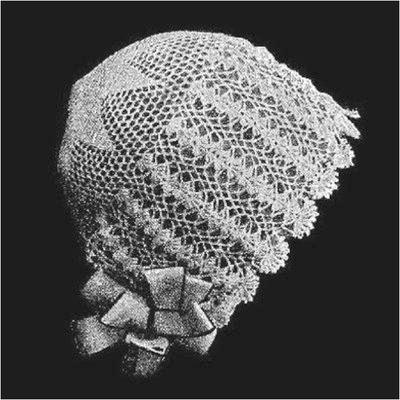 1920s style vintage knitting bonnet