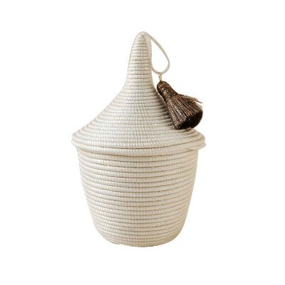 Africa Mini Tassel Peace Basket