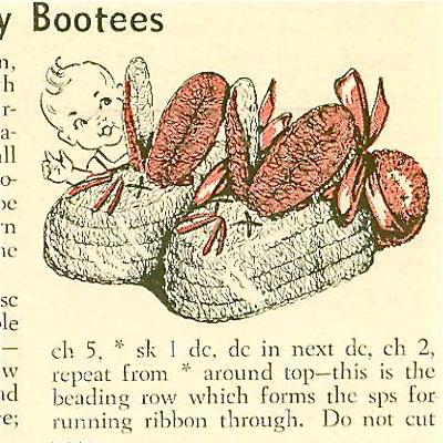 Bunny Eared Baby Booties