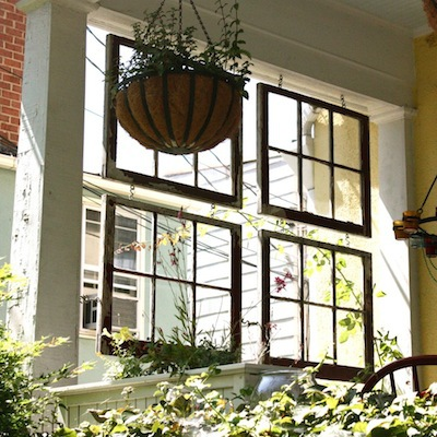 turning old windows into dividers