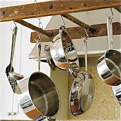 rack for hanging pots and pans