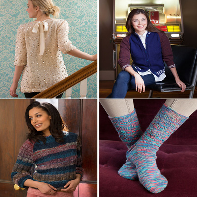 designer knitting patterns from Red Heart Yarns