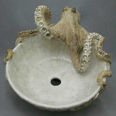 octopus handmade sink