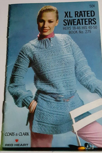 1970s Red Heart sweater pattern book