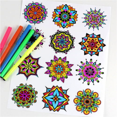Mini mandala coloring pages